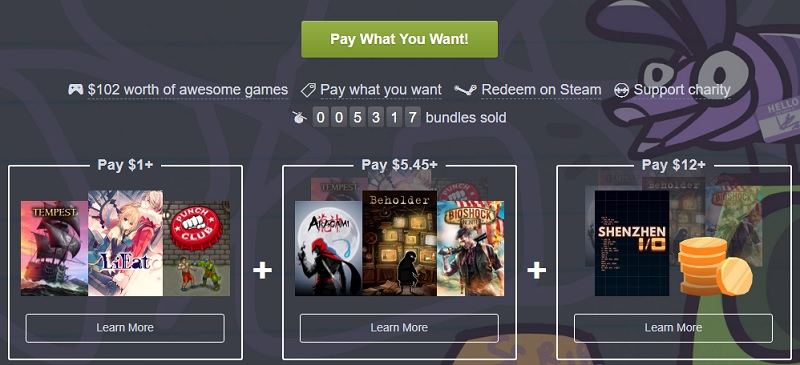 The Humble Staff Picks Scribble Bundle has been released