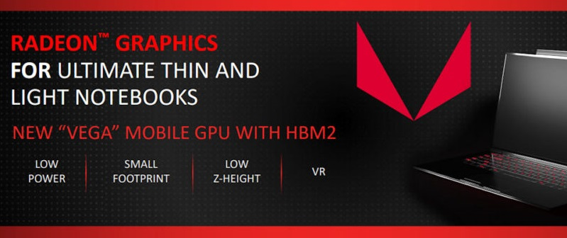 AMD reveals Vega mobile, an AMD discrete GPU for notebooks