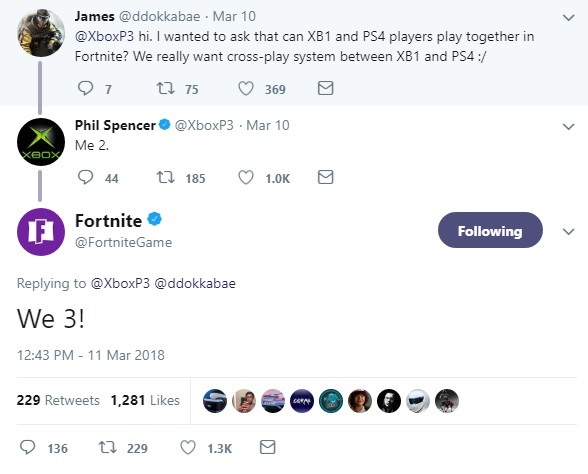 microsoft wants xbox one cross play with ps4 in fortnite sony has blocked the - fortnite xbox ps4 cross platform
