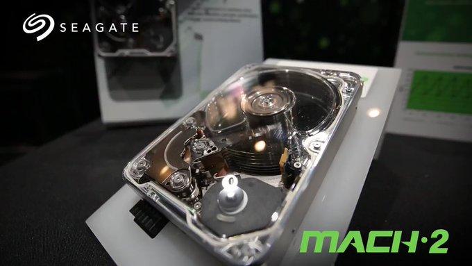 Seagate showcases MACH.2 Multi-Actuator technology