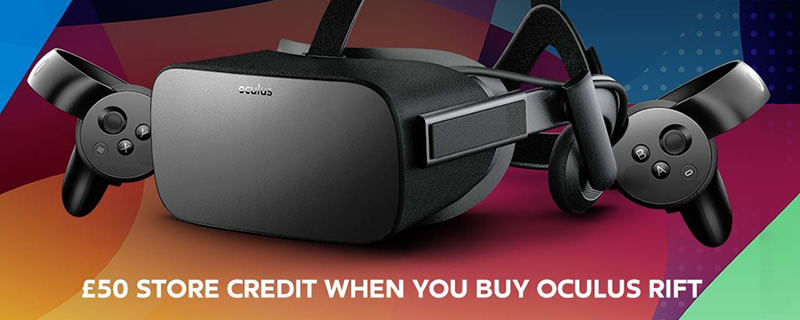Oculus celebrates 2-year anniversary with £50 if free store credit with new Rift pruchases