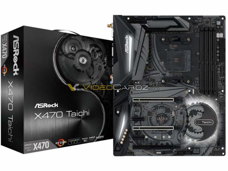 ASRock's X470 Taichi and X470 Taichi Ultimate pictured