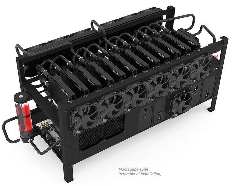 Alphacool launches 12 GPU Open Air Mining Frame