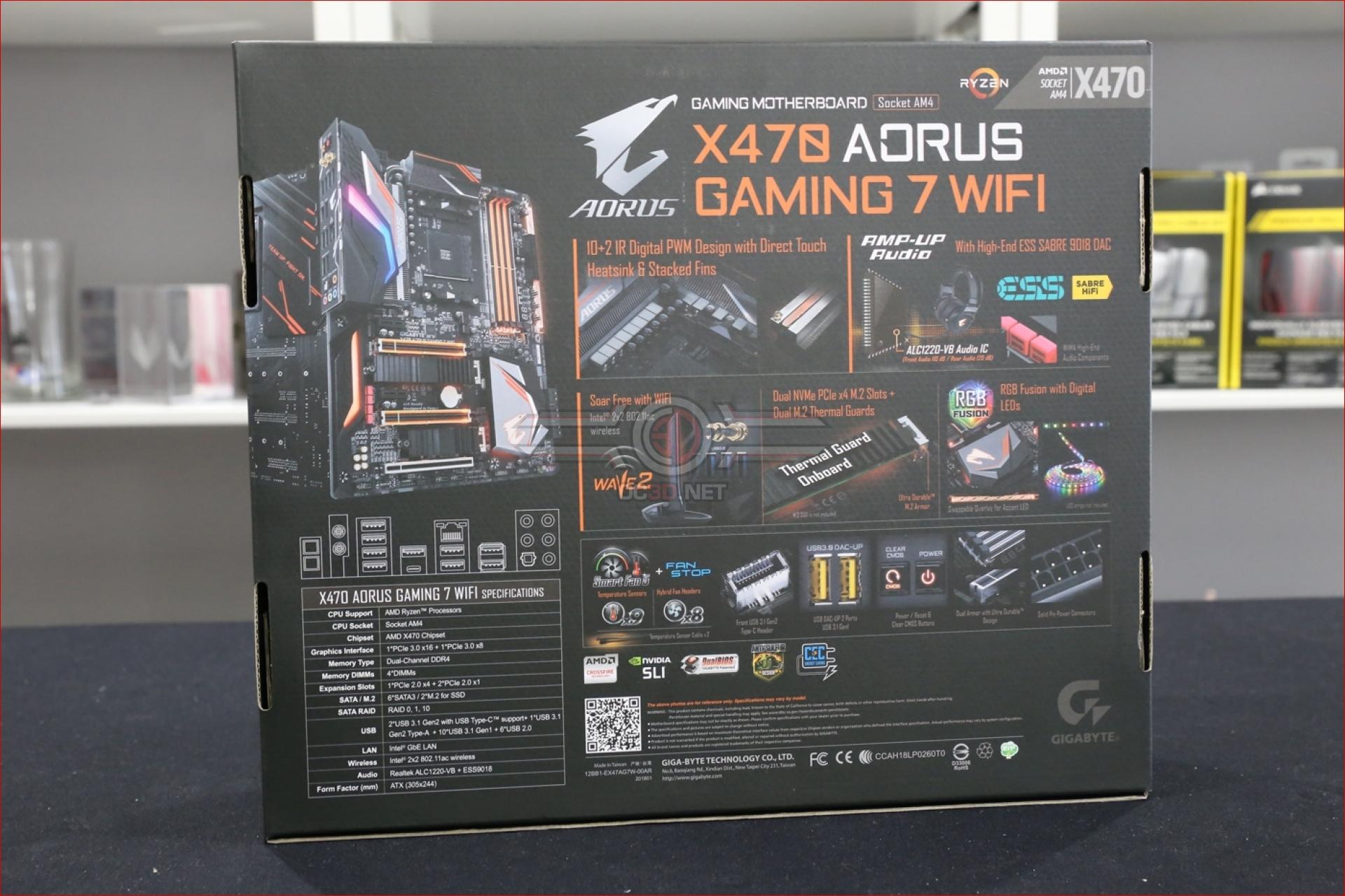 Gigabyte X470 Aorus Gaming 7 WiFi Review | Up Close | CPU