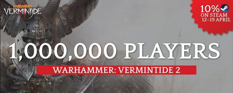 Warhammer: Vermintide 2 has sold over 1 million copies