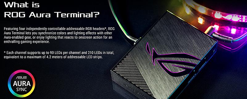 ASUS announces their ROG Aura Terminal for RGB lighting