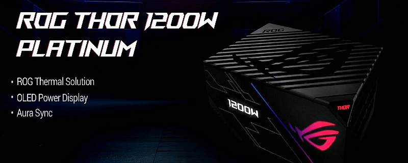 ASUS reveals their ROG Thor series power supply
