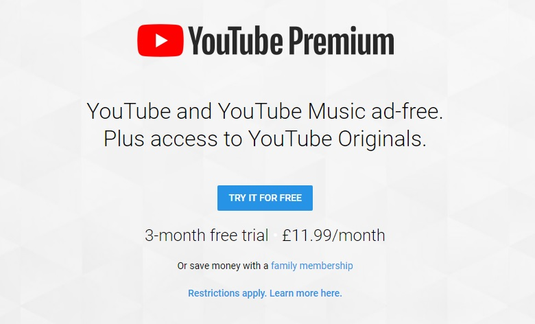 YouTube Premium and Music launch in 17 countries - OC3D Forums