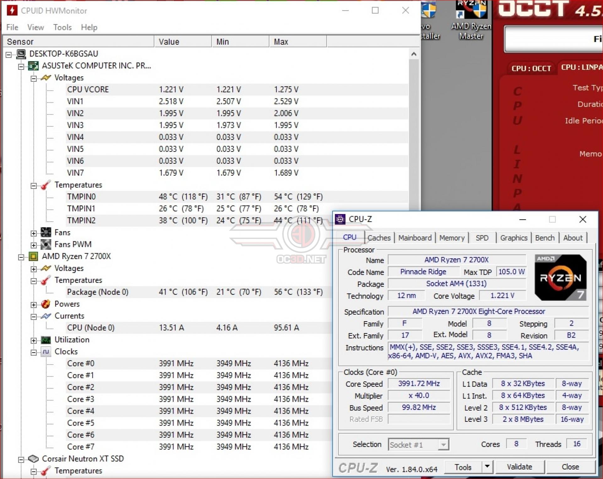AMD Ryzen 7 2700X with Corsair H60 Overclocking