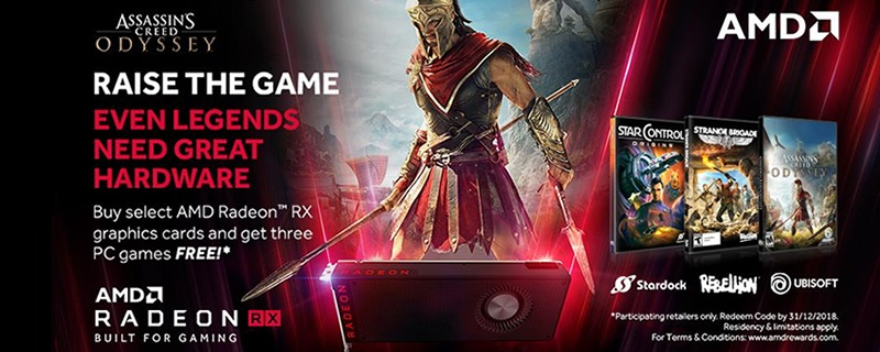 AMD offers three free games with Radeon RX Vega, 580 or 570