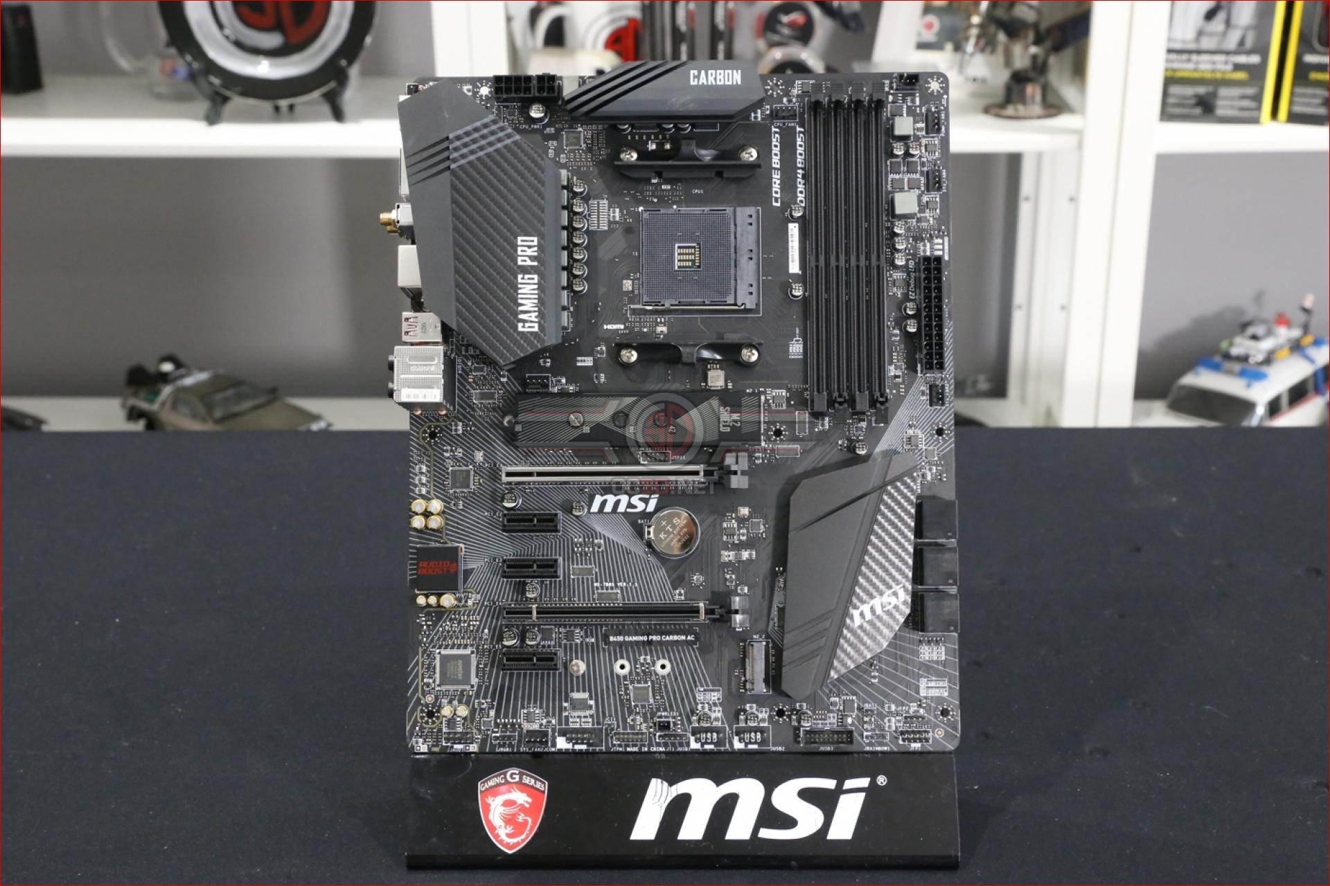 MSI B450 Gaming Pro Carbon AC Review   Up Close   CPU
