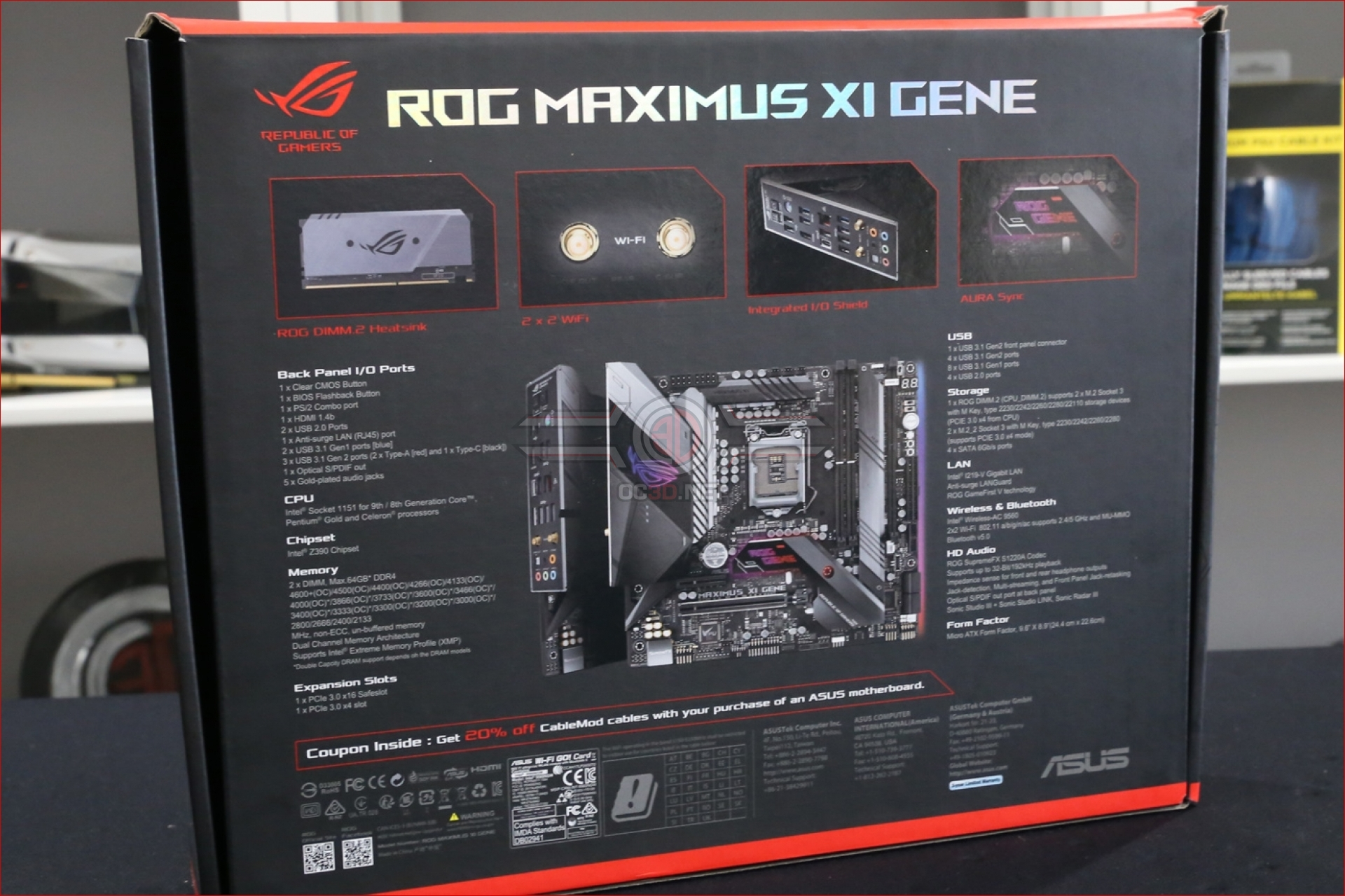 ASUS ROG Z390 Maximus XI Gene Preview | Introduction and Technical