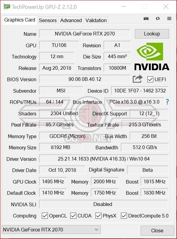 MSI RTX 2070 Gaming Z Review | Test Setup and Overclocking | GPU