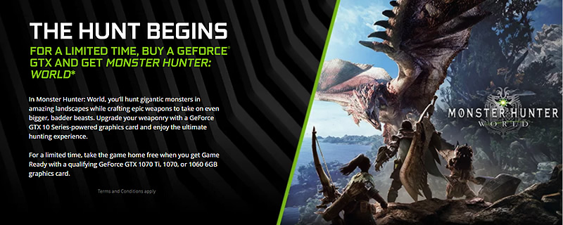 The Hunt Begins' with Nvidia's latest Game Bundle   OC3D News