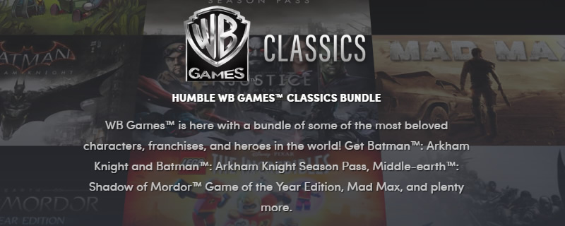 The Humble Warner Bros Classics Bundle Is Now Live Oc3d News
