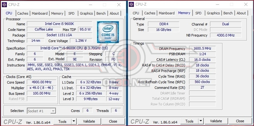 Intel i5 9600K and i7 9700K Review | Test Setup and Overclocking