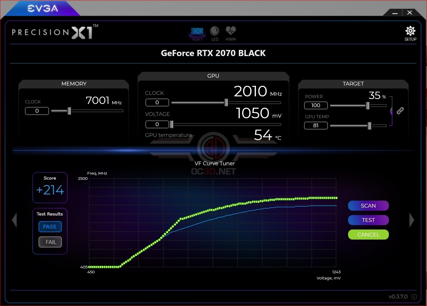 EVGA RTX 2070 Black Review | Test Setup and Overclocking