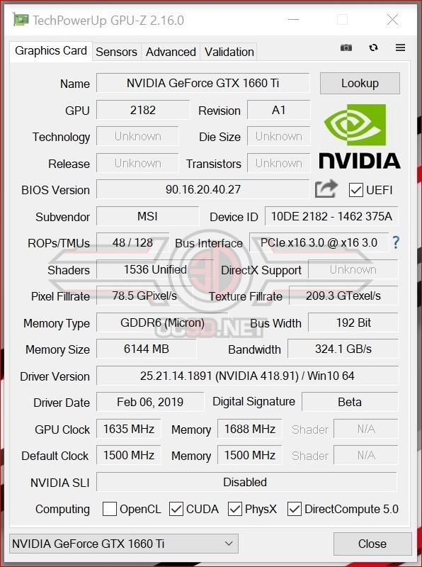 MSI GTX 1660Ti Gaming X Review | Test Setup and Overclocking | GPU