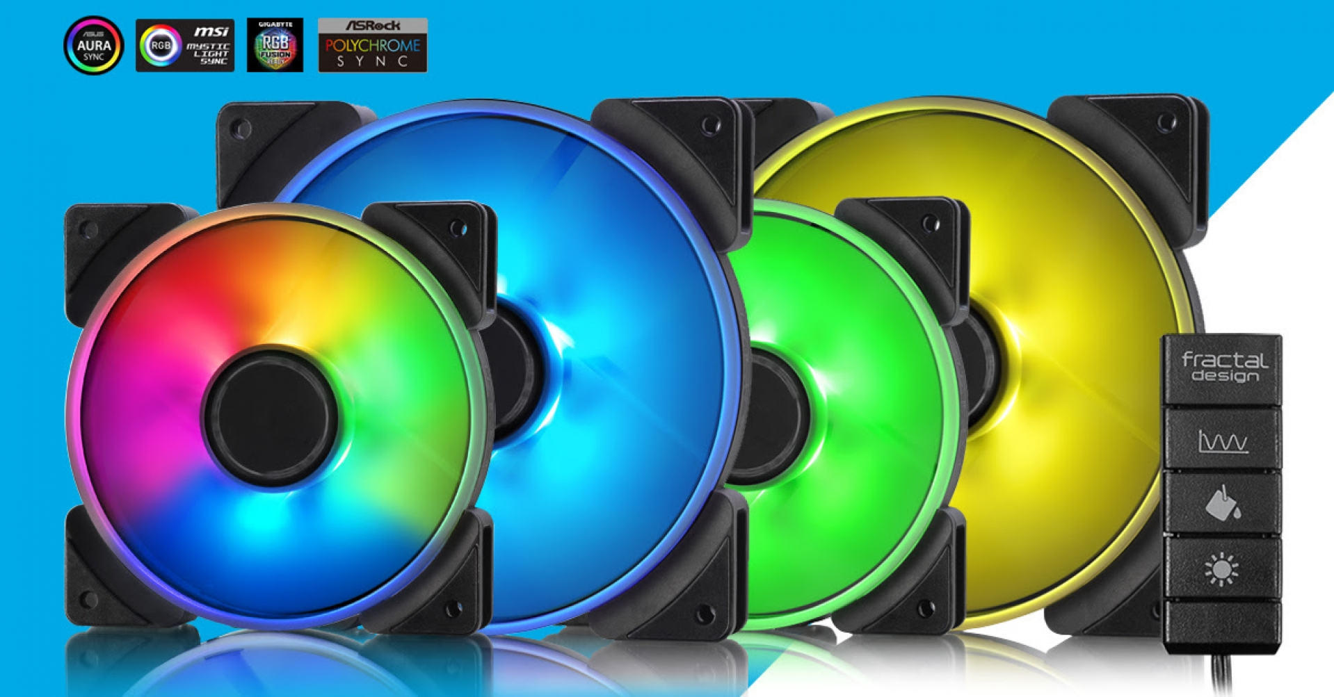 Fractal Design Releases their Prisma Series of RGB 120/140mm fans