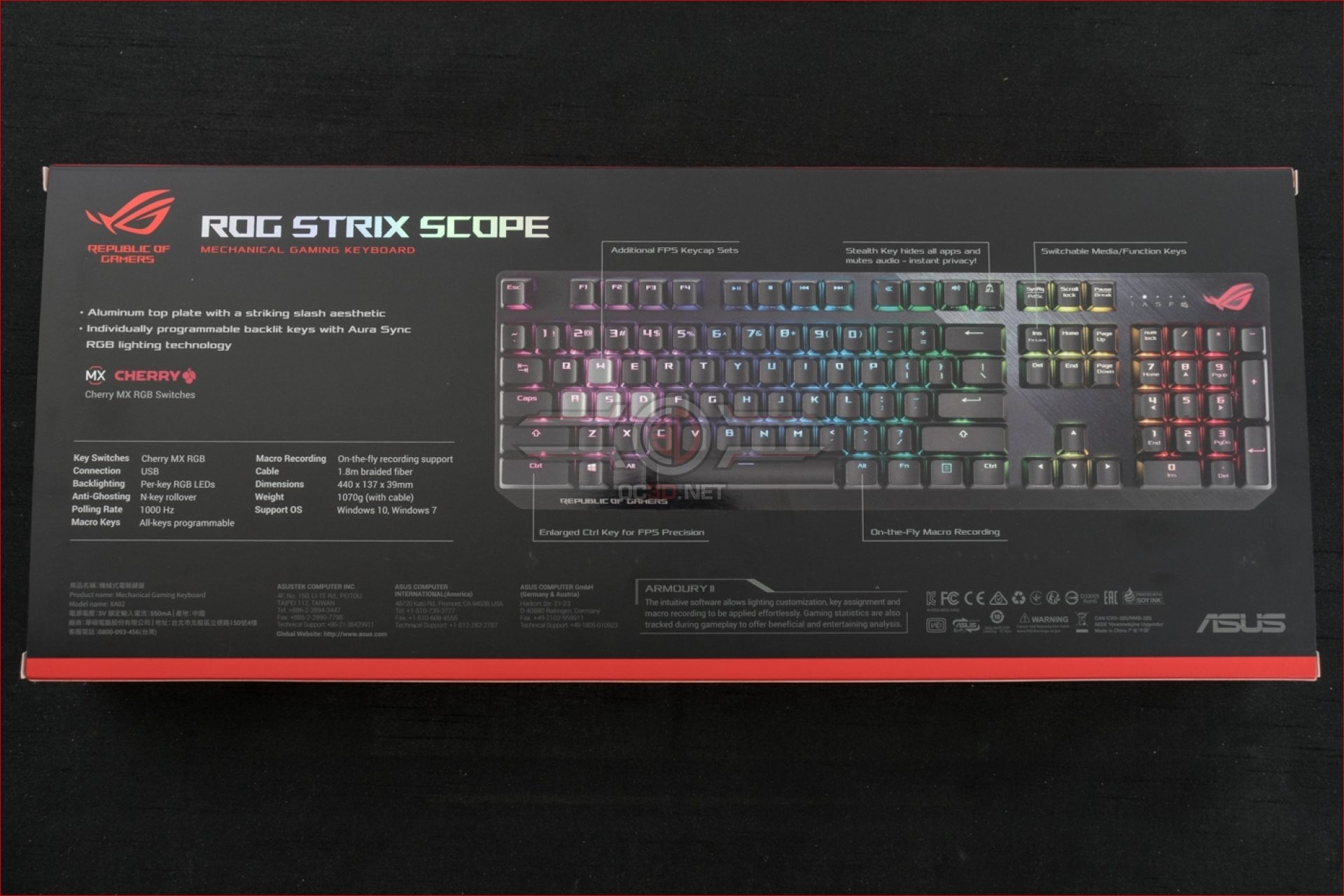 ASUS ROG Strix Scope Gaming Keyboard | Introduction and Packaging