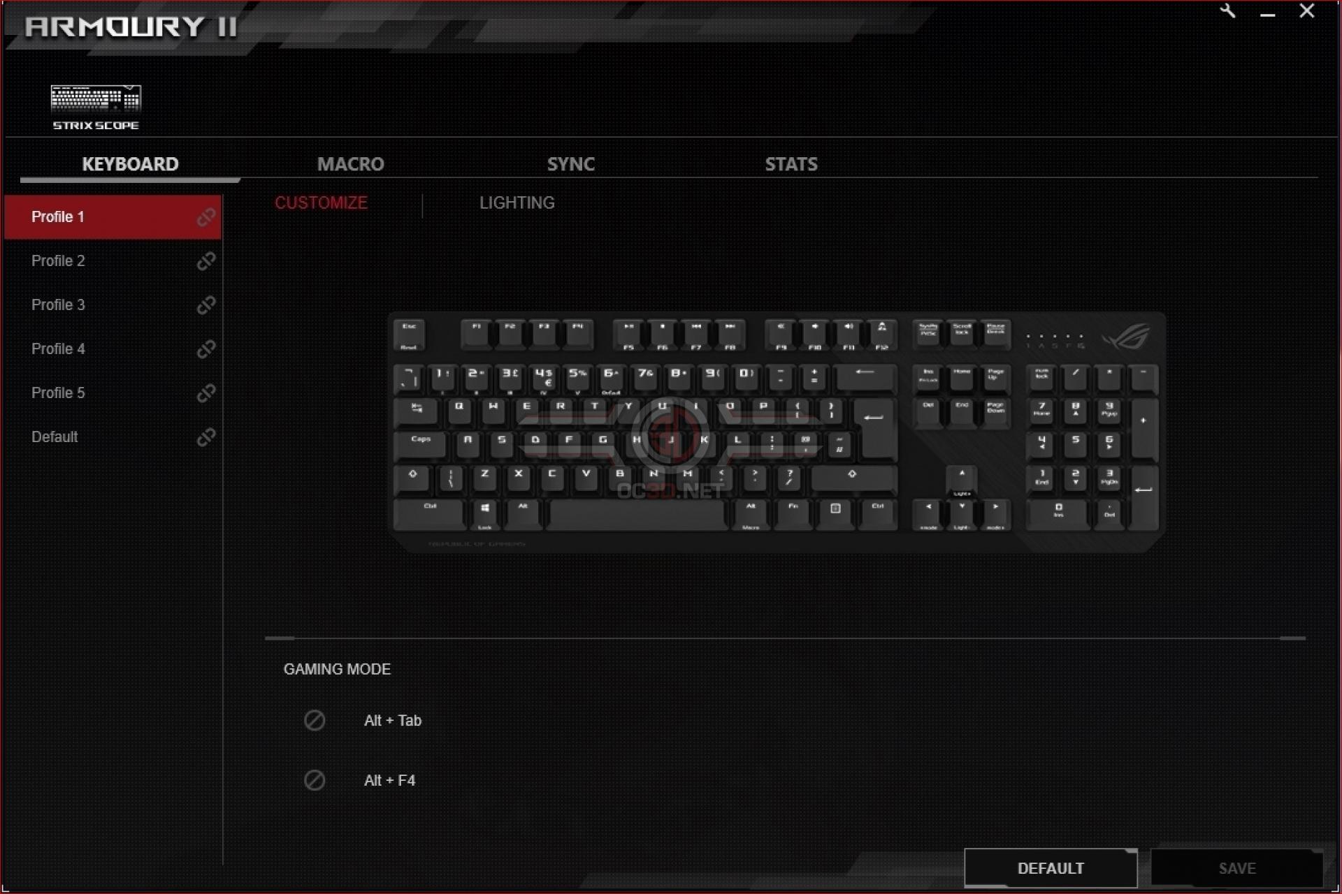 ASUS ROG Strix Scope Gaming Keyboard | Software and Lighting | Input