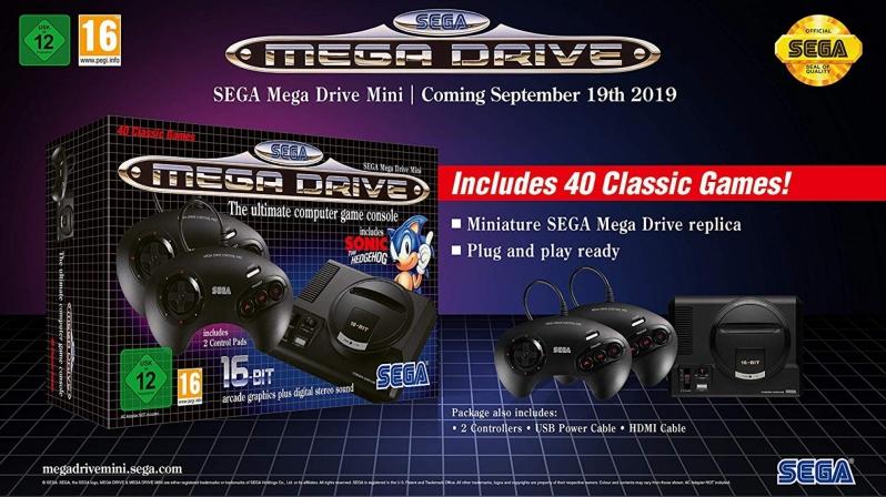 SEGA's Mega Drive/Genesis Mini Consoles Become Available for Pre-Order