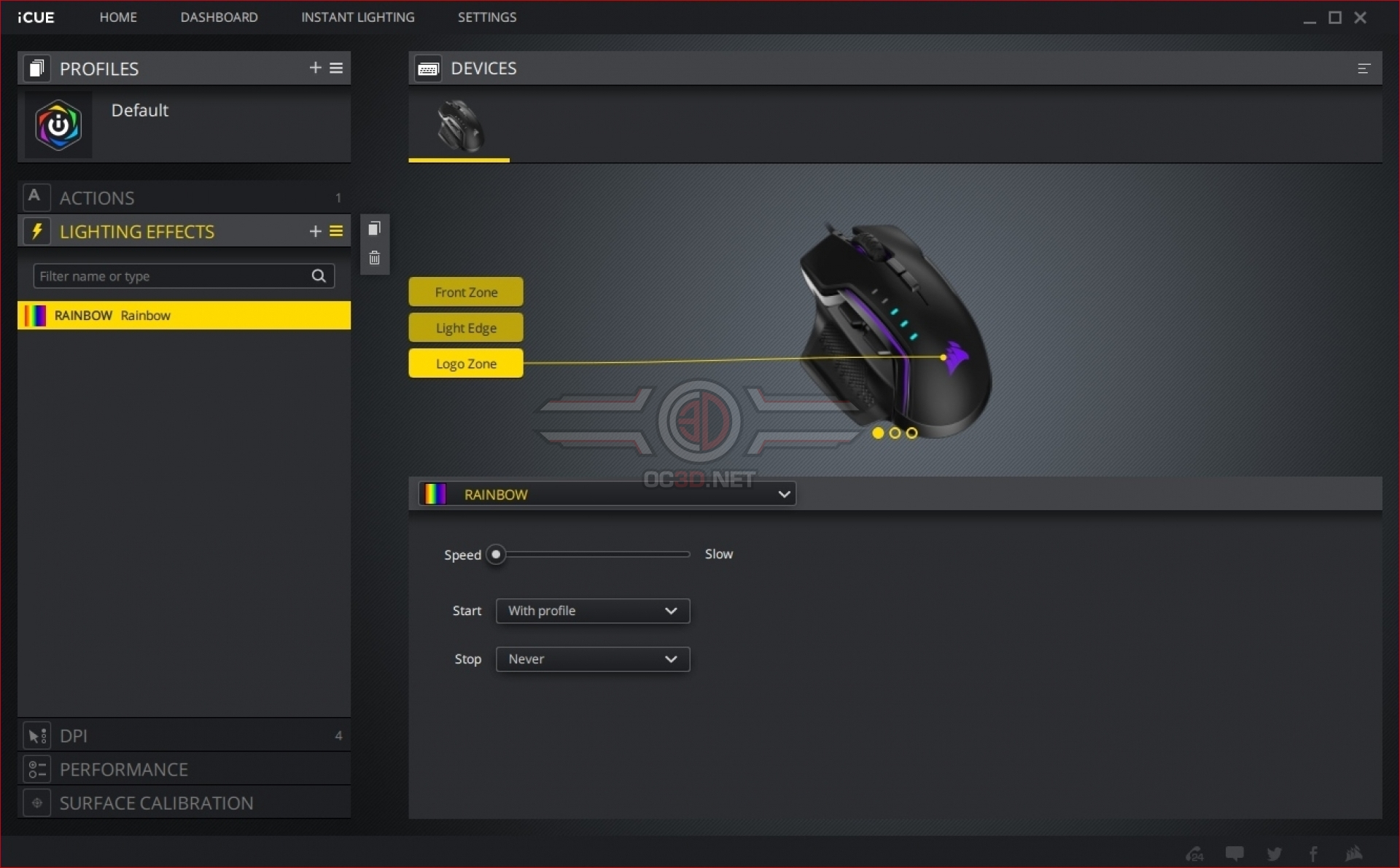 Corsair Glaive RGB Pro Mouse Review | Software and Lighting