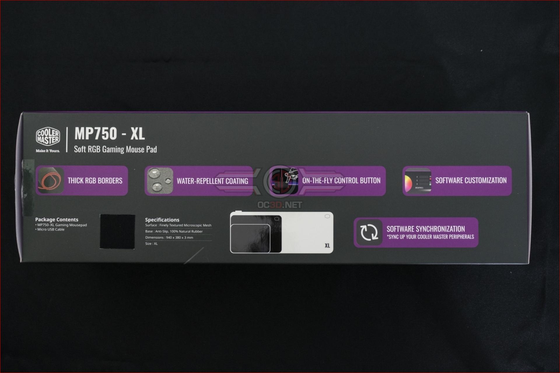 Cooler Master MP750 XL RGB Gaming Surface   Up Close   Input
