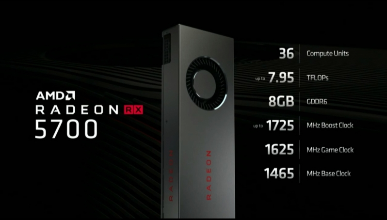 AMD officially reveals their RX 5700 family of Navi graphics