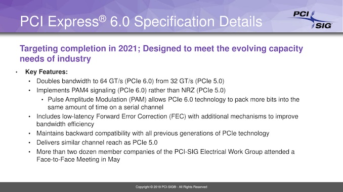 PCI-SIG announced PCIe 6.0, because who doesn't want more bandwidth?