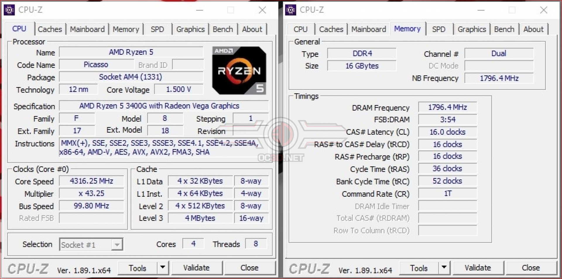 Amd Ryzen 5 3400g Review Test Setup And Overclocking Cpu Mainboard Oc3d Review