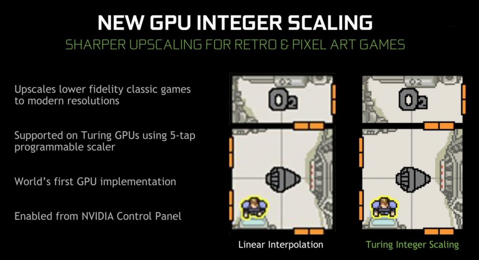 Nvidia brings Integer Scaling to its drivers, but only for