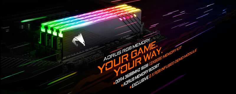 Gigabyte Aorus reveals fast 3600MHz RGB DDR4 memory kits with