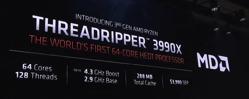 AMD launches its Ryzen Threadripper 3990X processor for $3990 - A Monster price for a Monster CPU - CES 2020