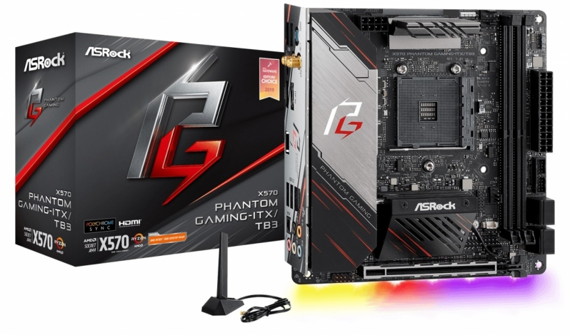 AMD's first Thunderbolt certified motherboard is ASRock's X570 Phantom Gaming-ITX/TB3