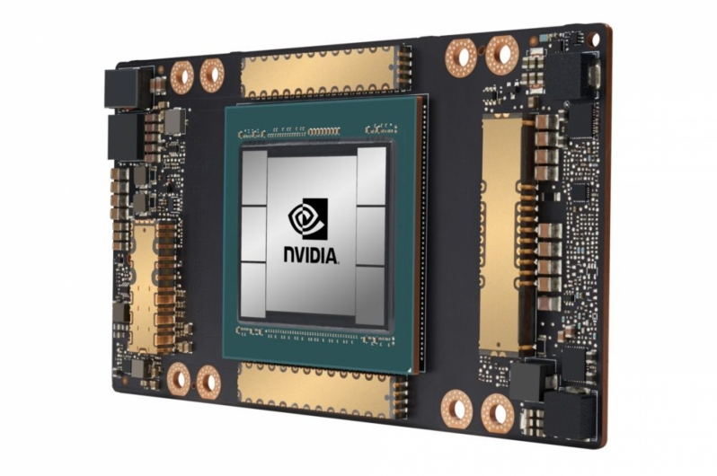 Nvidia's Tesla A100 GPU has been pictured - The largest Ampere GPU