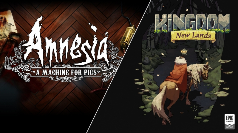 Amnesia: A Machine for Pigs and kingdom: New Lands are available for free on the Epic Games Store