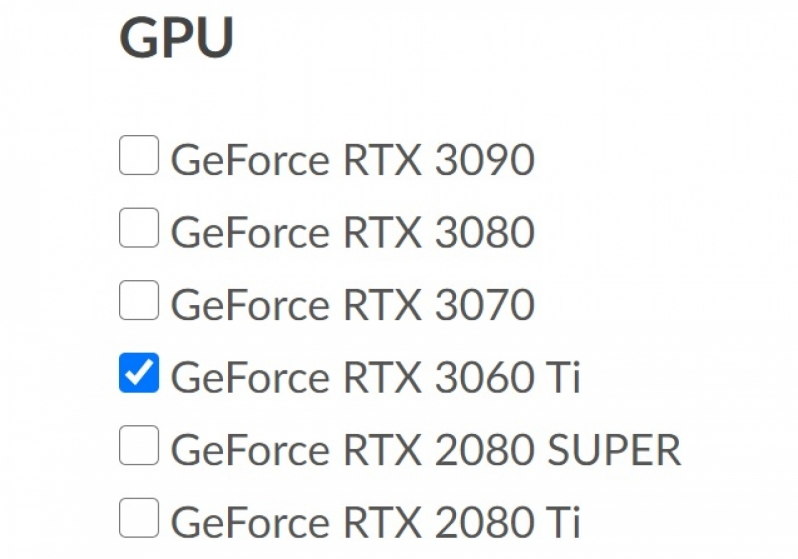 INNO3D Lists Nvidia's RTX 3060 Ti on their website