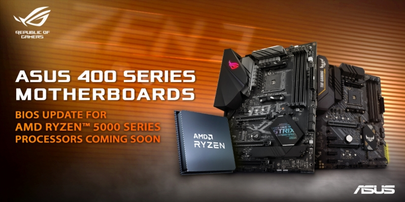 ASUS promises Ryzen 5000 BIOS files for 400-series motherboards