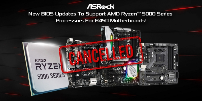 ASRock mysteriously pulls Ryzen 5000 series B450 BIOS updates from its website