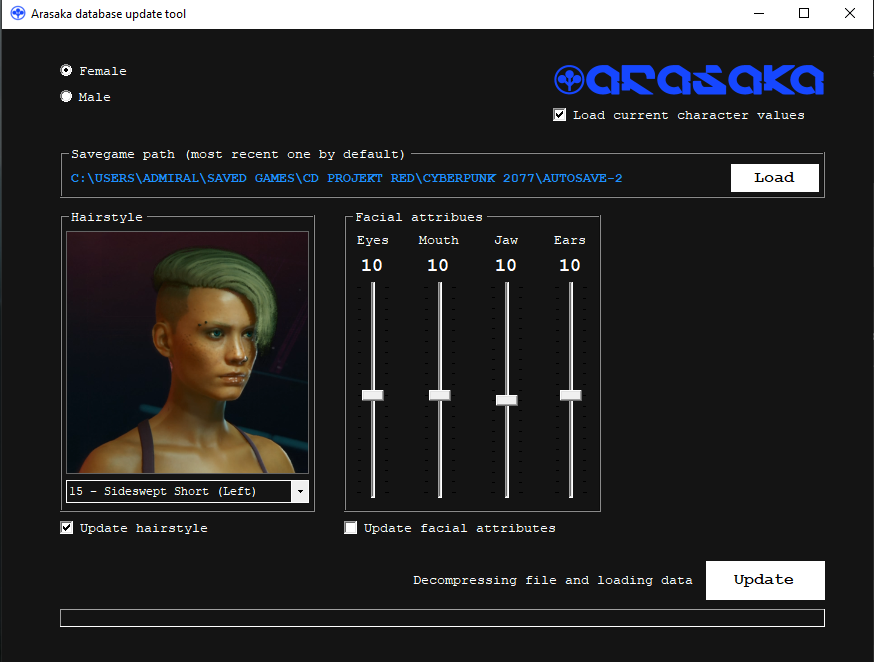 Cyberpunk modder allows PC players to change their character's face an hairstyle