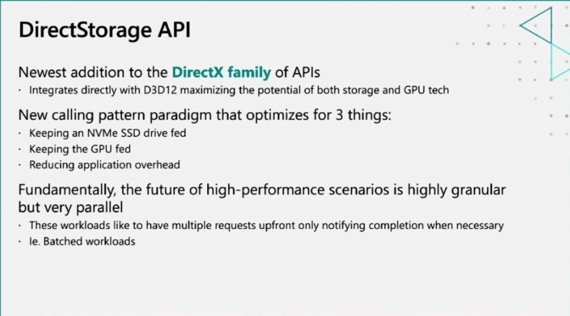 Microsoft's DirectStorage API will NVMe storage a must for gamers