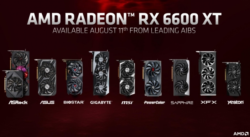 AMD reveals its RX 6600 XT graphics card for high refresh rate 1080p gaming